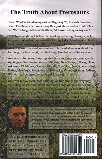 """back cover of the second edition of the book """"Live Pterosaurs in America"""""""