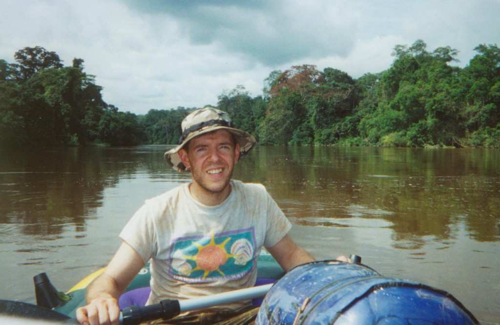 David Woetzel, American explorer in Cameroon, Africa, searching for a living dinosaur