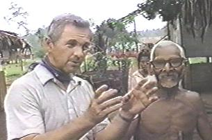 Missionary Jim Blume interviews native in Papua New Guinea