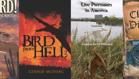 related to living pterosaurs, covers of six nonfiction books